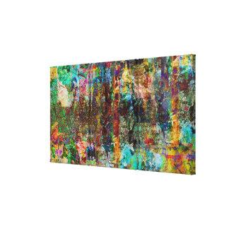 Urban Jungle-Digital Original Art Stretched Canvas Prints