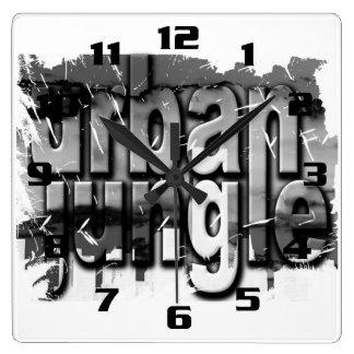 URBAN JUNGLE SQUARE WALL CLOCK