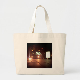 Urban landscape and bus AT night Hasselblad analog Large Tote Bag