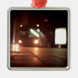 Urban landscape and bus AT night Hasselblad analog Metal Ornament