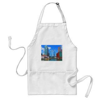 Urban Landscape n Lake Views from Boston City USA Adult Apron