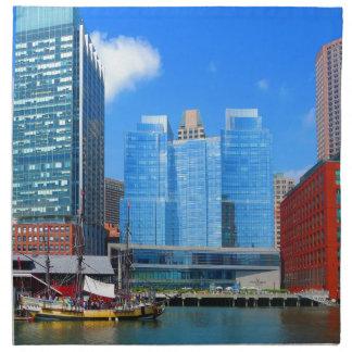 Urban Landscape n Lake Views from Boston City USA Cloth Napkin
