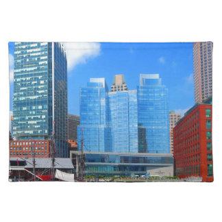 Urban Landscape n Lake Views from Boston City USA Cloth Placemat
