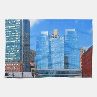 Urban Landscape n Lake Views from Boston City USA Hand Towel