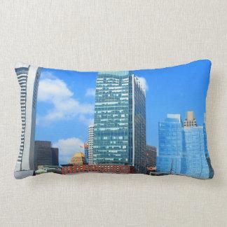Urban Landscape n Lake Views from Boston City USA Lumbar Pillow