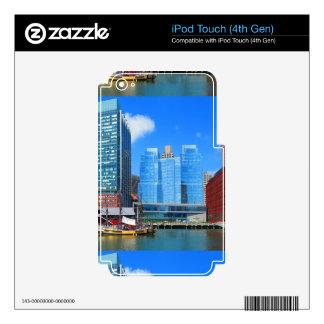 Urban Landscape n Lake Views from Boston City USA iPod Touch 4G Skin