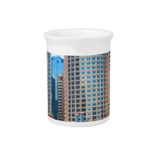 Urban Landscape Office Towers from Boston City USA Drink Pitcher