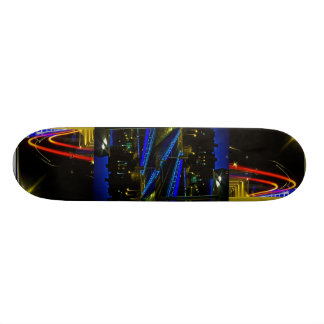 Urban lights of Santos Precipice Skateboard Deck