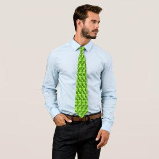 Urban Lime Green Hawaiian Twister Floral Necktie