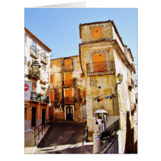 URBAN LISBON PHOTOGRAPH (CASTELO) Greeting Card