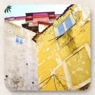 URBAN LISBON (YELLOW HOUSE) Plastic Coaster