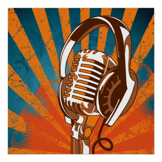 Urban Microphone Poster