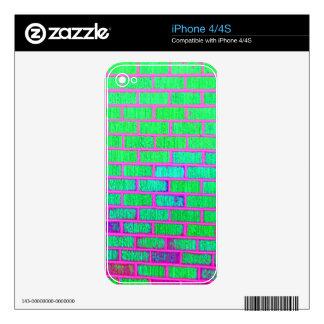 Urban Neon Brick Wall iPhone 4 Decals