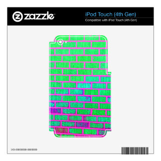 Urban Neon Brick Wall Skin For iPod Touch 4G