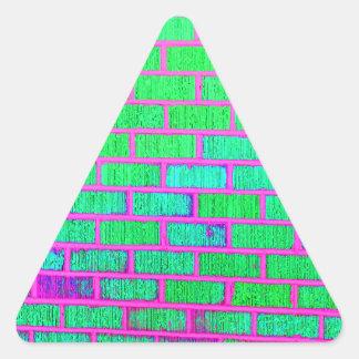 Urban Neon Brick Wall Triangle Sticker