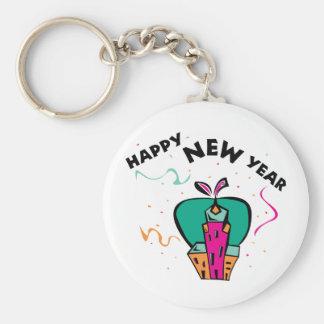 Urban New Year Basic Round Button Keychain