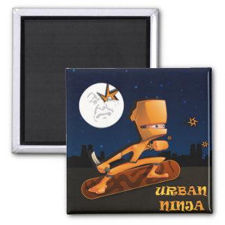 Urban Ninja 2 Inch Square Magnet