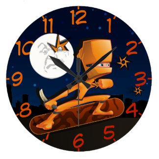 Urban Ninja Large Clock