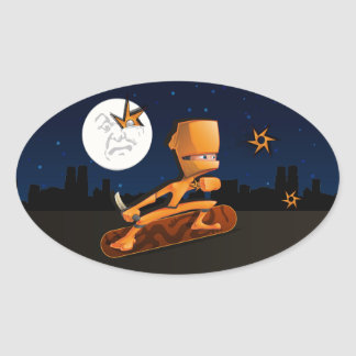 Urban Ninja Oval Sticker