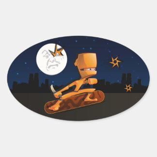 Urban Ninja Oval Stickers