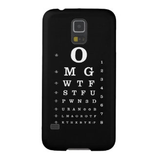 Urban Online Dictionary Eye Chart Samsung S3 Case For Galaxy S5