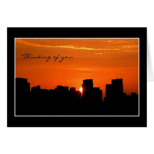 Urban Orange Sunset Card