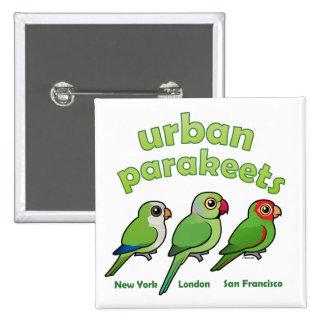 Urban Parakeets Button