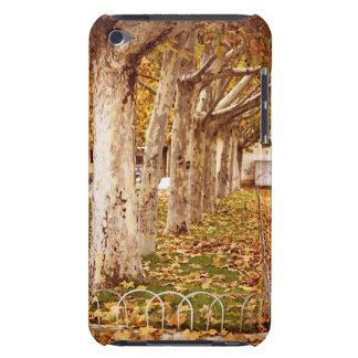 Urban park in autumn barely there iPod case