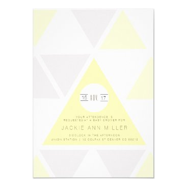 Aztec Themed Urban Pastel Triangles | Baby Shower Card