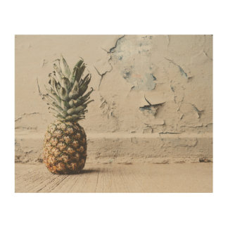 Urban Pineapple Wood Wall Art