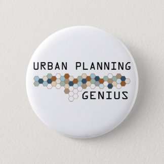Urban Planning Genius Pinback Button