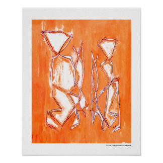 Urban Pop Couple Art Orange Contemporary by MCB Poster
