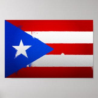 Urban Puerto Rico Flag Poster