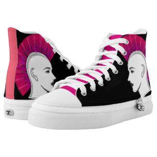 Urban punk mowhawk pop art High-Top sneakers