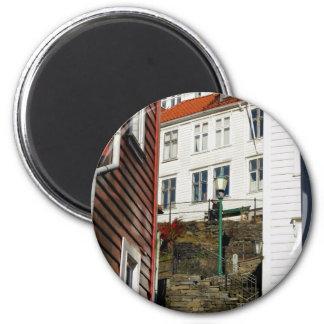 Urban Reader - Bergen in Norway 2 Inch Round Magnet