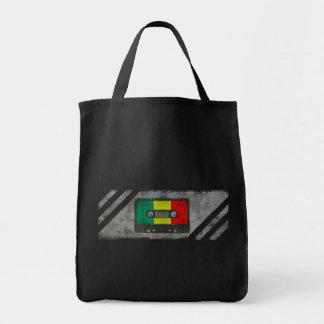 Urban reggae cassette tote bag