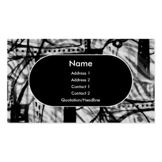 Urban Revival - Monochrome Double-Sided Standard Business Cards (Pack Of 100)