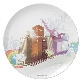 Urban Scene Dinner Plate