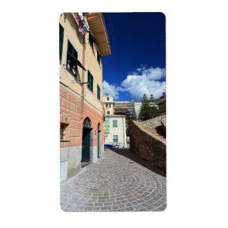 urban scene in Bogliasco, Italy Shipping Label