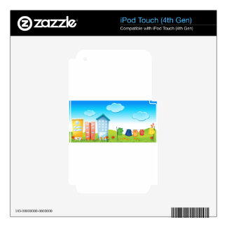 Urban scene skins for iPod touch 4G