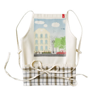 Urban scene zazzle HEART apron