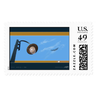 Urban Settings-Two Postage Stamp