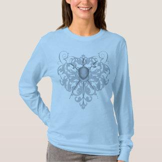 Urban Silver Swords Fencing Mask Women's T-Shirt