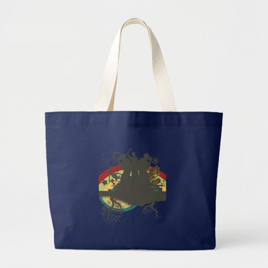 urban singers vector large tote bag