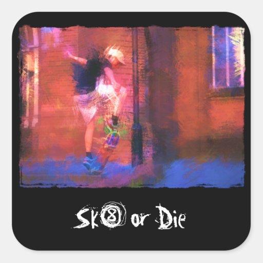 Urban Skateboard in Alley Sticker