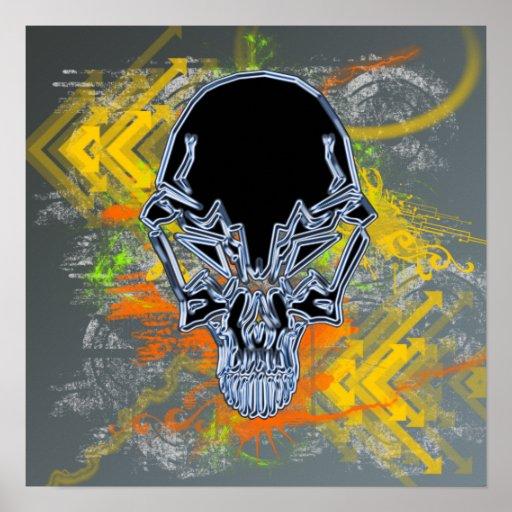 Urban Skull Poster