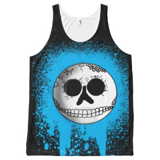 Urban Skull Smiley Tank Top All-Over Print Tank Top