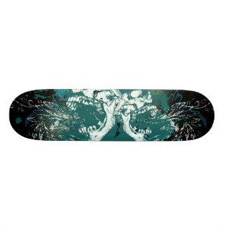 Urban Skull Splatter Skateboard Deck