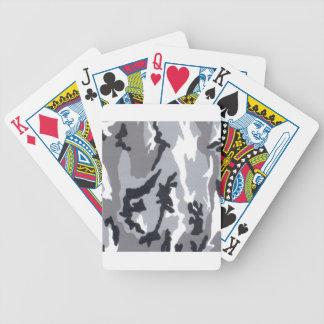 Urban/Snow Camo Bicycle Poker Cards