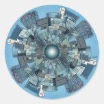 Urban Sprawl Round Sticker
